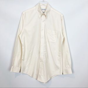 Brooks Brothers Ivory Polo Collection Shirt NWOT